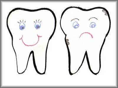 Happy Tooth Sad Tooth Preschool Art